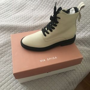 Via Spiga Kinley Bone color Size 8.5 Combat boots